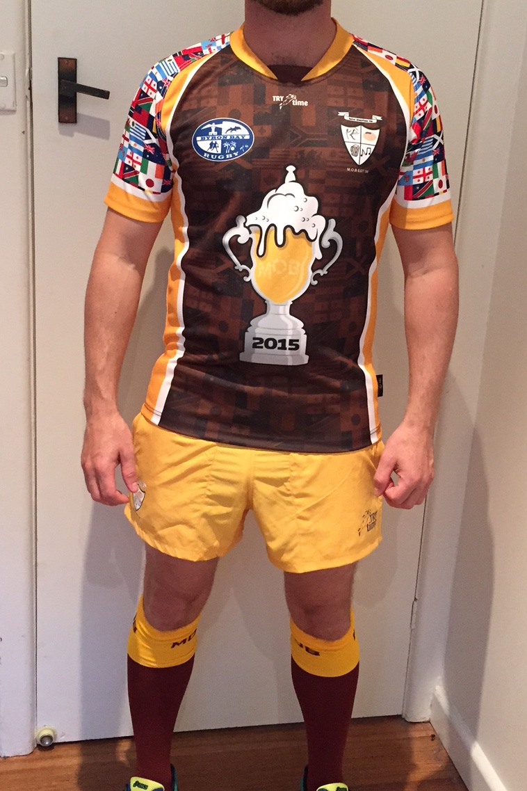 MOB Macarthur Old Boys Rugby 2016 Byron Bay Sevens Jersey 2